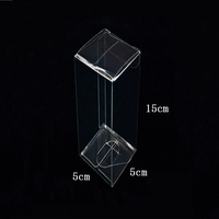 High quality 5*5*6.5cm pvc transparent jewelry packaging boxes supplies