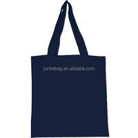 Plain Black Cotton Canvas Tote Bag