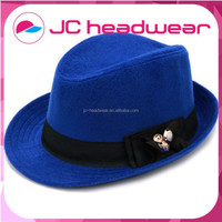 custom snapback 100% wool Fedora hat