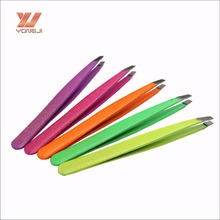 TW0063 New product metal Slant Tip Eyebrow Tweezers