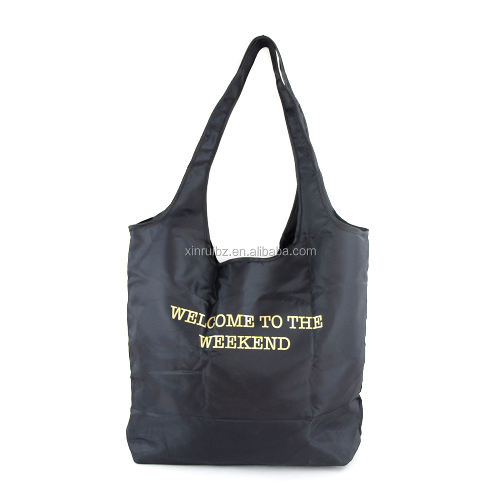 China new design custom reusable eco-friendly easy carrying polyester folding shopping bag