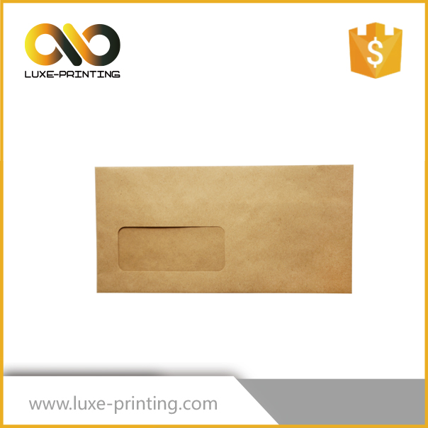 Small Kraft Custom Made Paper Envelopes with Clear Window