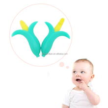 Food Grade Silicone Funny Baby Corn Shape Teether Baby Toothbrush