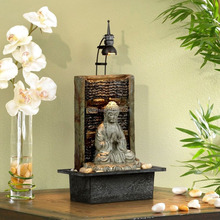 LED light Desk buddha water table fountain for gift