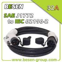 32A Cable Car Charger Power Adapter For EV Charging Station