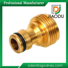Top Quality China Taizhou 1/4 or 5/8 Copper Garden Hose Barb Male Coupling Brass Garden Hose Quick Connect Adapter Fitting