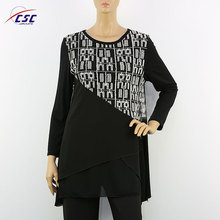 Stylish latest blouse designs women casual long sleeve tunic tops