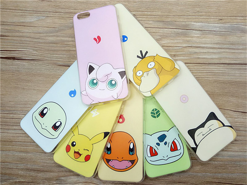 Super cute hard plastic Pokemon Go Mobile phone shell Pokemon phone case for iphone 6 /6s phone more models and designs