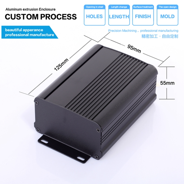 hot sale aluminum power inverter enclosure 95x55x100mm qualified electronic aluminum extruded enclosures
