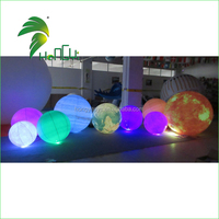 0.18mmPVC LED Solar System NIne Planets Balloon / Cheap Inflatable Planet Ball For Exihibition