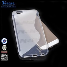 Veaqee Hot selling fashion design S line TPU mobile phone case for iphone 6