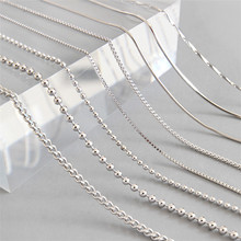 "Guangzhou Sland Manufacturer wholesale many designs and sizes 16"" 18"" 20"" 22"" 30"" chain necklace sterling silver"