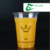 Feiyang Disposable plastic juice drinking 16oz PET water cup with flat's lids free design