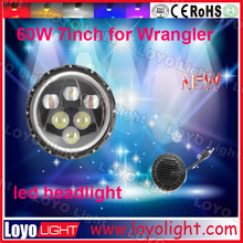 jeep lamp 7 inch round led headlight 12v 24v with high low beam