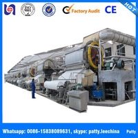 China manufacture complete small waste paper recycling plant/ set of tissue making machine