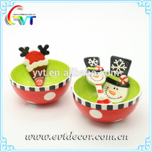 Factory directly ceramic soup bowl with spoon certificate