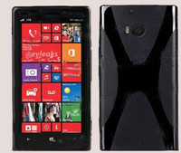 X Line design TPU Gel Cover Case for Nokia Lumia 929 Made In China Luatdec