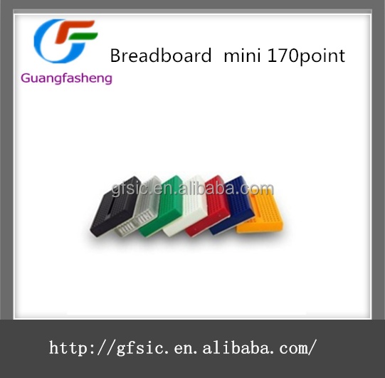 Mini Powered colorful 170 point breadboard