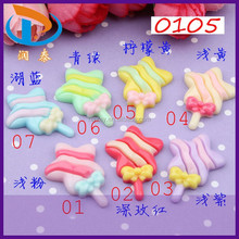 Wholesale 29*20mm Phone Decoration Assorted Color Star Lollipop Resin Cabochons Flatback Crafts