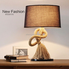 Vintage fabric lampshade desk lamp for restaurant or hotel
