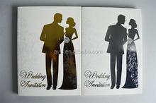 Top quality customized paper card A5 card size wedding invitation 7'' video booklet