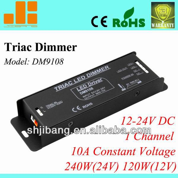 Triac dimmable driver, Traic dimming driver, pwm led driver,1channel/12V/24V/10A/240W pn:DM9108