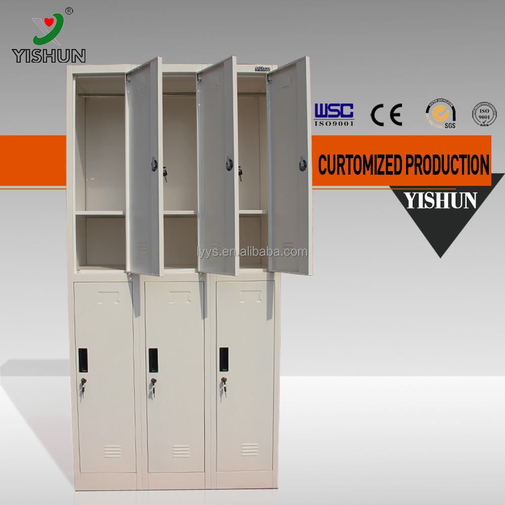 China factory price compartment steel metal gym storage cabinet
