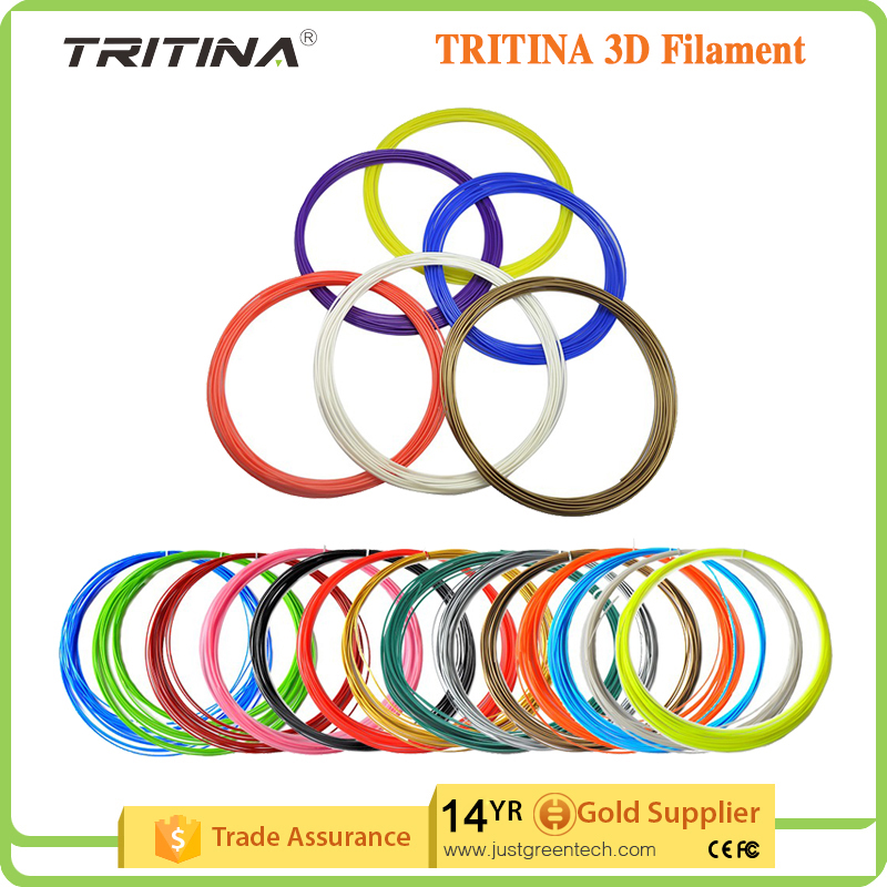 Whosale Tritina <strong>ABS</strong> 3D Filament Refills Pack of 20 Colors INCLUDES 5 Luminous! *5 Meters 1.75mm Around For 3D Printing Pen