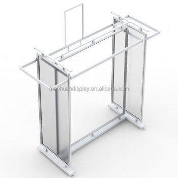 Double Use Clothes Steel Display Stand Metal Garment Shop fitting For Display