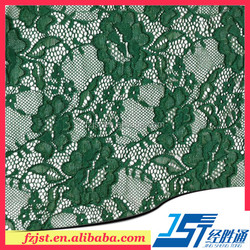Mint green nylon spandex lace fabric emerald green