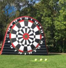 Giant Double side 6M inflatable football soccer darts boards/inflatable foot darts game For Sale
