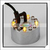 Ultrasonic Mist Maker Fogger Water Floating Fountain Pond 12 LED -13006040