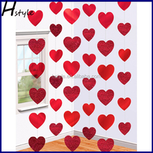 Valentines Day Red Hearts Hanging String Decorations SD012