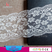 15cm factory wholesale high quality fashion design lace baju kurung lingerie stretch lace lycra lace LSHB345