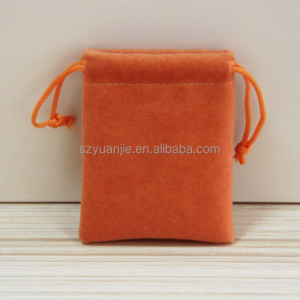 Latest Promotional Excellent <strong>Orange</strong> Velvet Drawstring Pouch Exporter