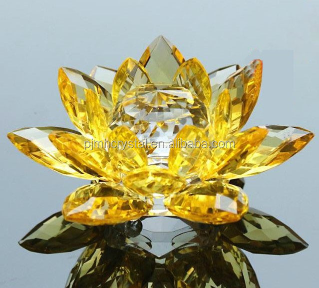 wholesale crystal glass lotus flower MH-L016