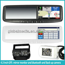"4.3""car gps navigation with bluetooth handfree and night vision CCD device, video parking sensor"