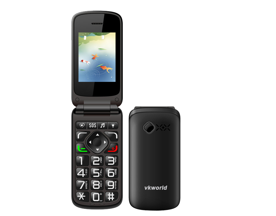 vkworld Z2 Wholesale Camera 0.3MPSC6531 Torch/320*480/2.4 inch Support 2 SIM Cards Elder Mobile Phone