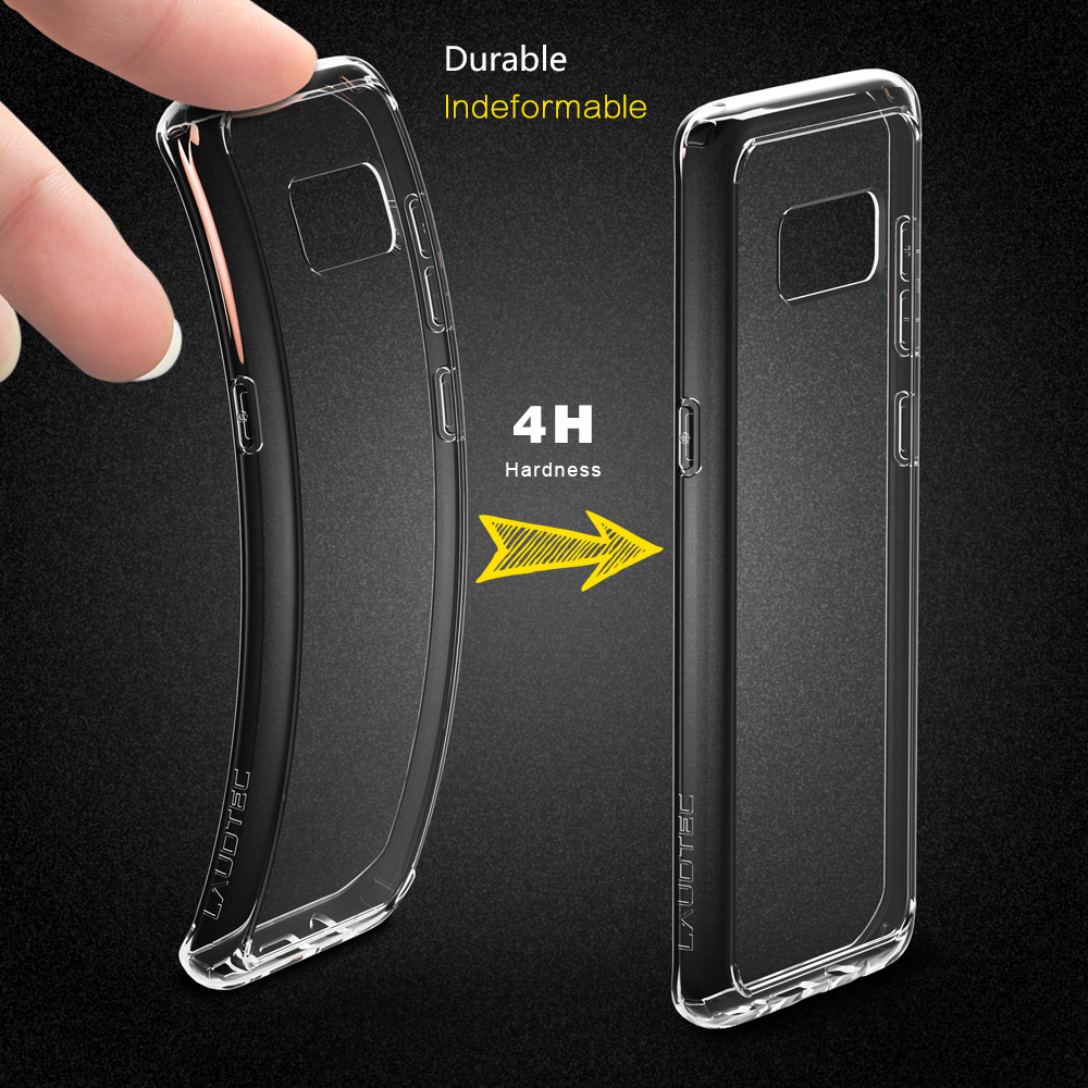 Scratch-resistant Transparent PC Back Case with TPU Bumper for Samsung galaxy S8