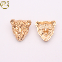 N-1687 Factory Wholesale Fantastic Special Leopard Design Gold Garment Accessory Metal Button