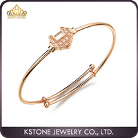 KSTONE High quality individual customize jewelry rose gold house baby design originals bangles
