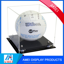 2017 clear acrylic volleyball display case with UV protection