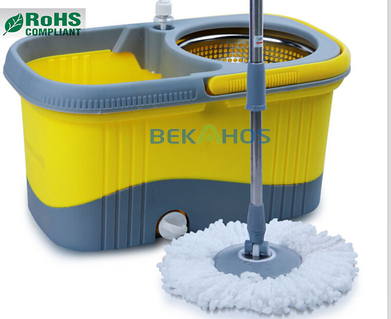 Bekahos Hot Sale Floor Clean 360 Degree Spin Mop with 100% New pp Mop Bucket as seen on TV 2017 Smart Product