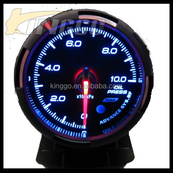 Performance Universal Racing 60 MM Auto Meter Oil Pressure Gauge