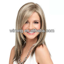 natural straight thin skin remy human hair blond lace front wigs with parts
