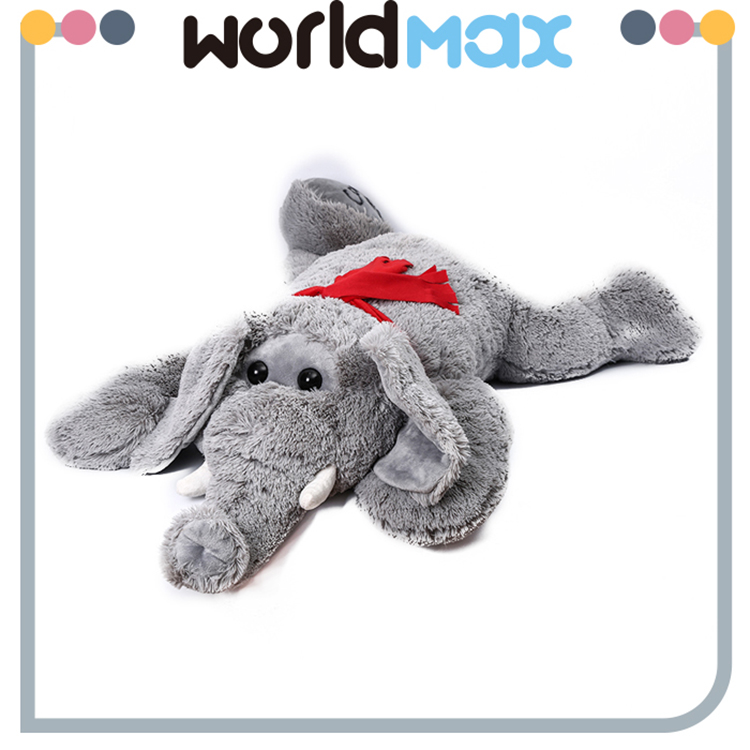 High Quality Cute Lying Elephant Soft Cartoon Toy Doll