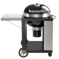 Rodeo barbecue barrel, Charcoal Kettle BBQ Grill with Cart