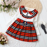 Layered kids clothes wholesale softtextile frock design for baby girl