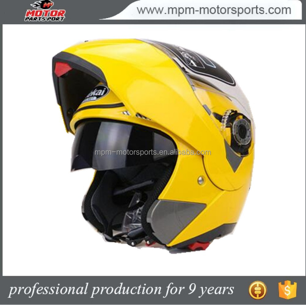 Double vision dot Full Face abs Motorcycle Helmet with goggles