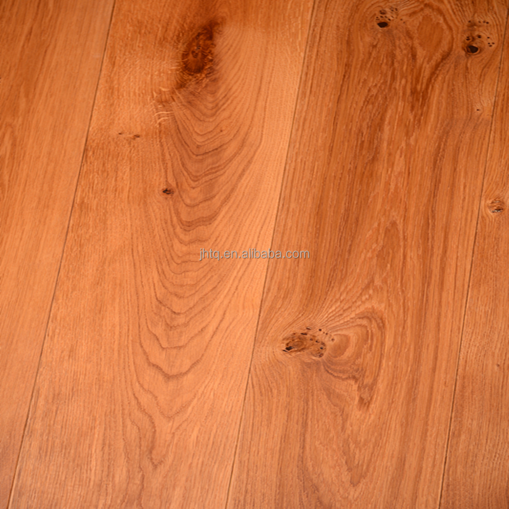 European Oak Smooth Multilayer Solid Wood Flooring China Tianjin Factory